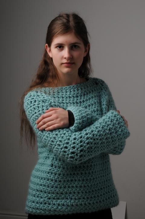 Simple Crochet Sweater Pattern Mrs Moon
