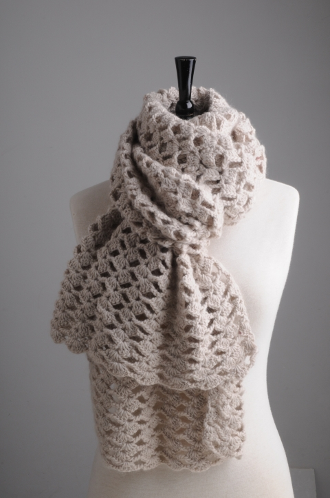 First Lacy Crochet Scarf Pattern | Mrs Moon
