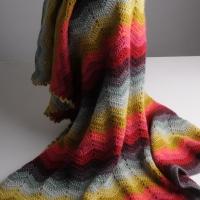 Mrs Moon Chevron Blanket in 9 colours