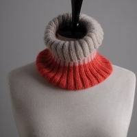 Mrs Moon knitted rib neckwarmer