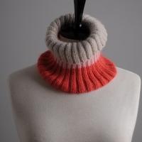 Mrs Moon knitted rib neckwarmer