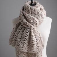 Mrs Moon simple lacy crochet scarf