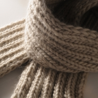 How to knit a rib scarf tutorial