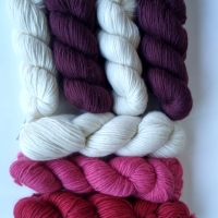 Pinks, Damson and Blueberry