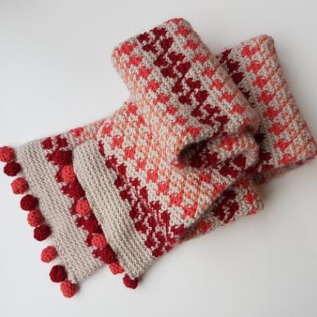 Crochet Fair Isle Scarf