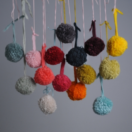 Pom poms made from Plump