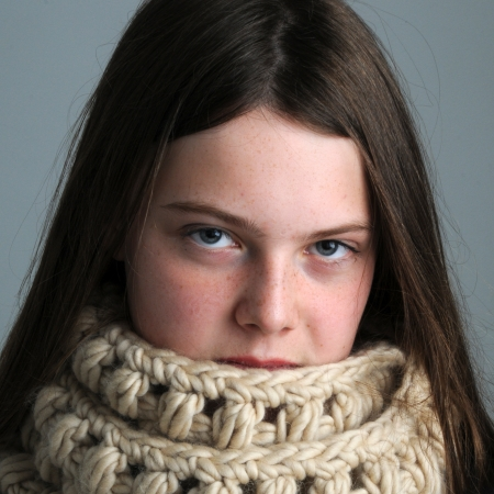 2 skein cowl shown in Sugared Almond