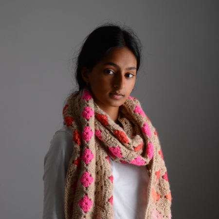 Butterscotch Scarf in Pinks