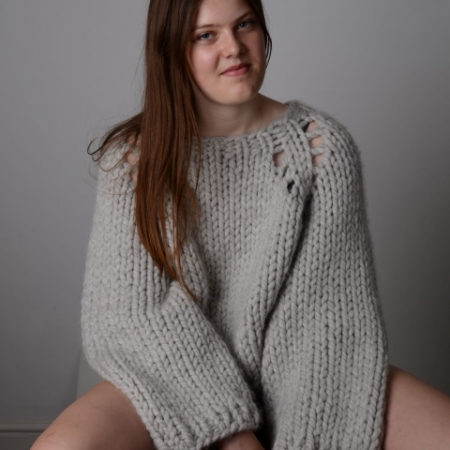 Holey Moley Sweater in Pepper