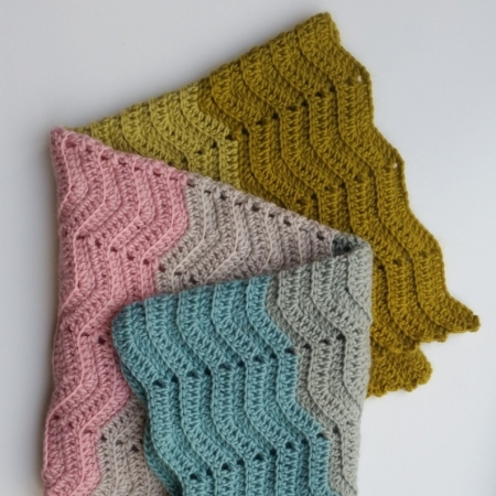 Textured Chevron Baby Blanket