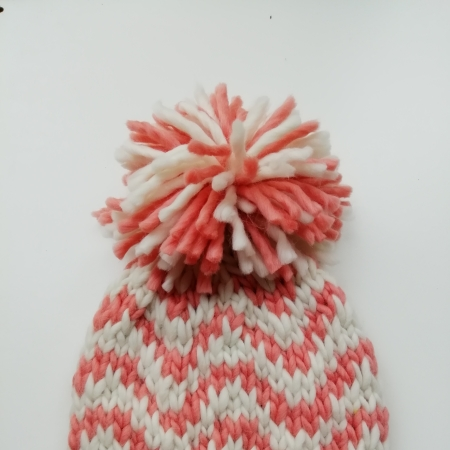 Loopy Hat shown in Creme Caramel and Marshmallow