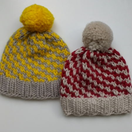 slip stitch hat using Plump Superchunky